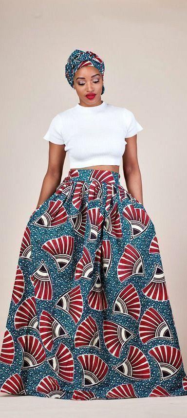 Shaitou Rock. Entspannt und doch raffiniert und vor allem universell schmeichelhaft  sehen Sie wie es in der Taille knackt  ist ein voller Rock mit hoher Taille ein sofortiger Spielveränderer mit zwei Seitentaschen und einem ca. 5 cm breiten Bund. Ankara | Dutch wax | Kente | Kitenge | Dashiki | Afrikanisches Kleid | Afrikanische Mode | Ankara-Maxirock | Afrikanische Drucke | Nigerianischer Stil | Ghanaische Mode | Senegalische Mode | Keniaische Mode | Ankara-Stil | Ankara-Kleid (Partner) #afri #afrikanischeskleid
