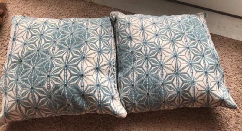 Blue And White Throw Pillows Couch Pillows Set Of 2 Pillows Ebay Link In 2020 Pillows White Throw Pillows Couch Throw Pillows