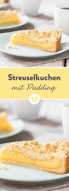 Streuselkuchen mit Pudding gefüllt – wie früher!  – german Foods