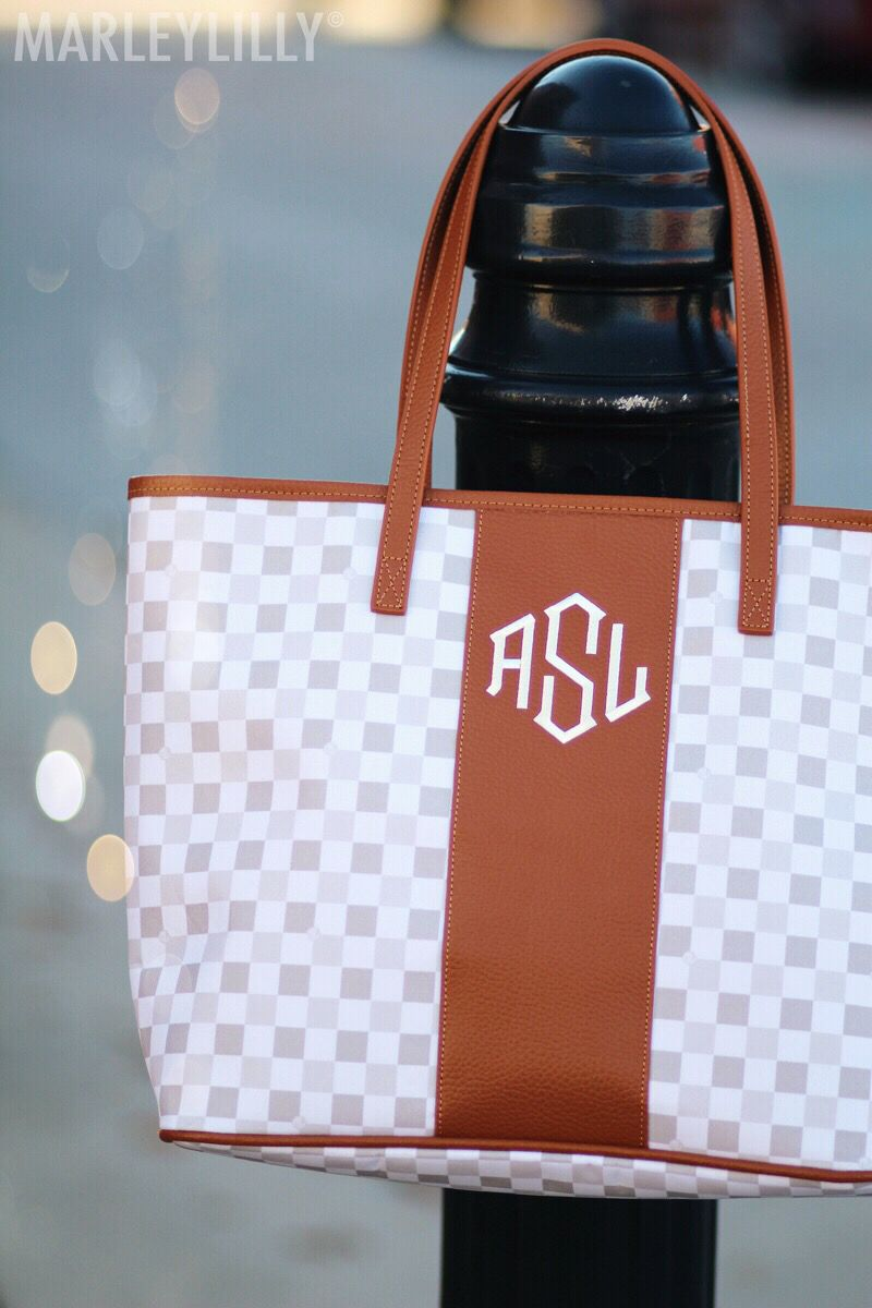 This Monogrammed Tote Bag Is A Dream Only At Marleylilly