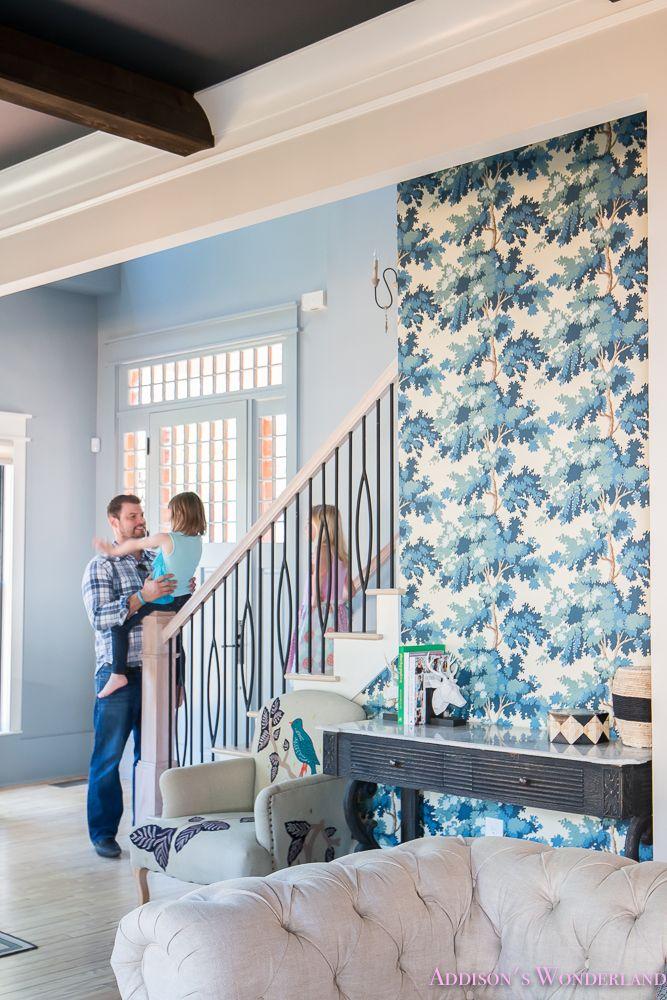 Our Powder Blue Foyer Update Interior Interior Design Decor