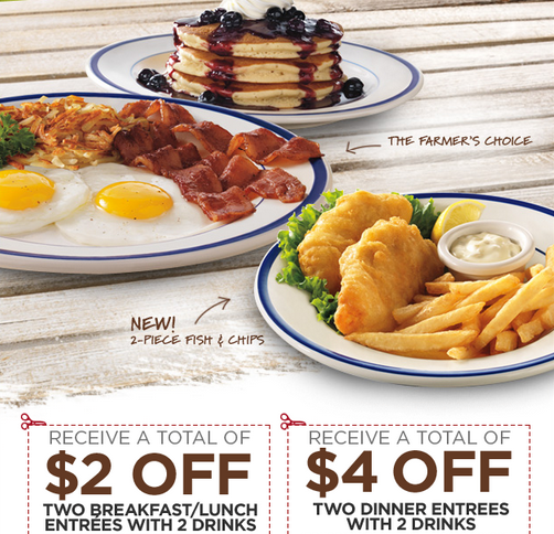 Bungalow 9 Restaurant Coupons Deals Discounts: BOB EVANS $$ Reminder: New Printable Coupons Available