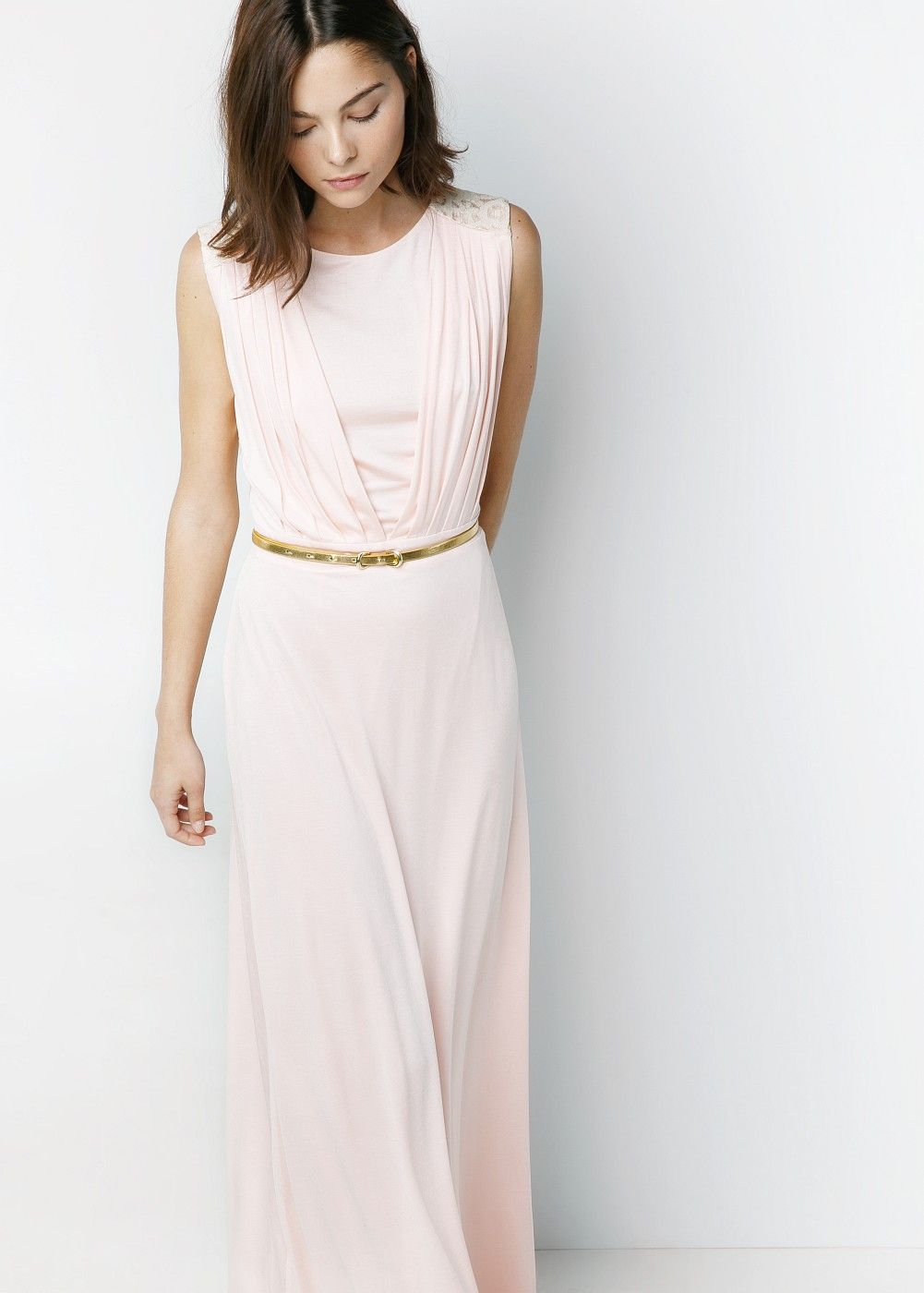 Rochie femei pale pink and robe mango pale pink long dress ombrellifo Image collections