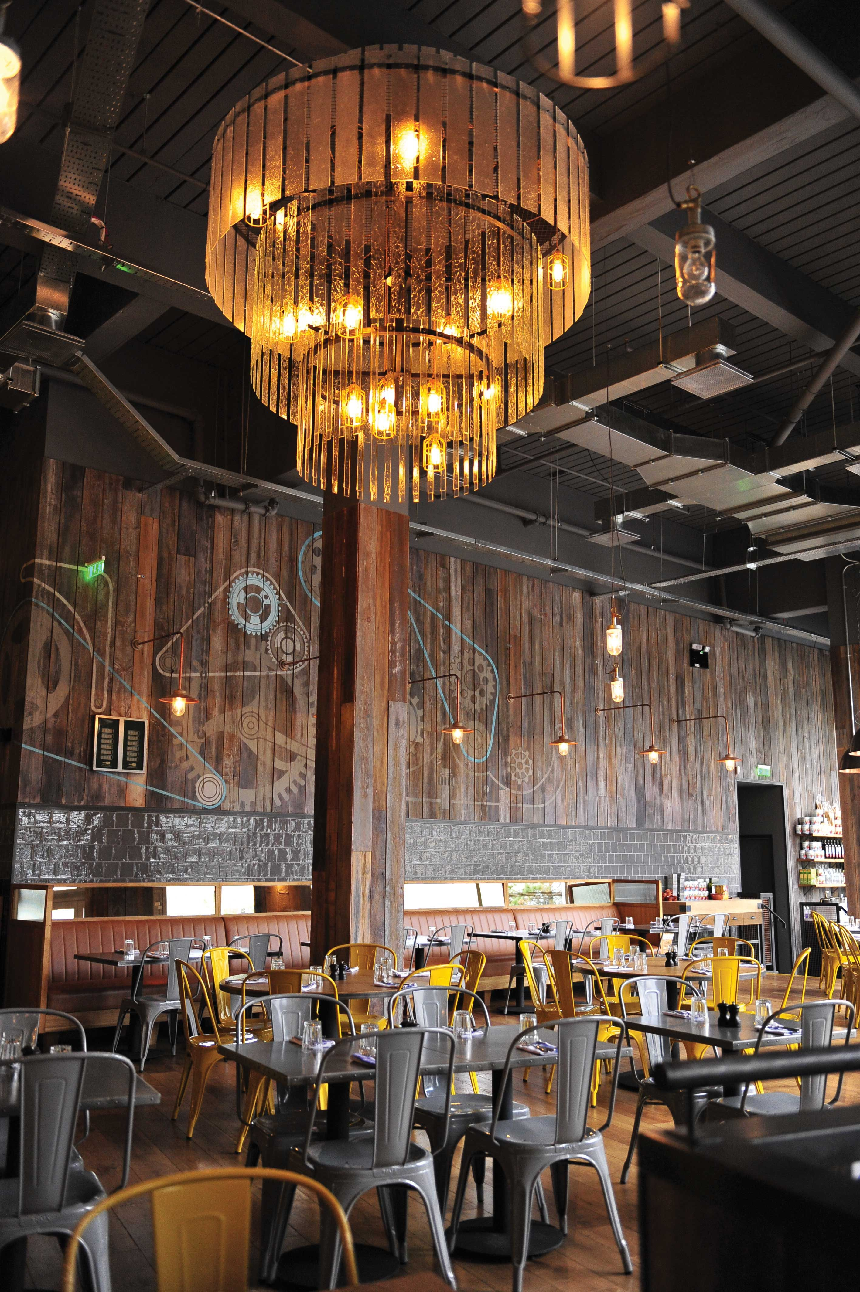 Three tier chandelier Jamies Italian Birmingham Interior design