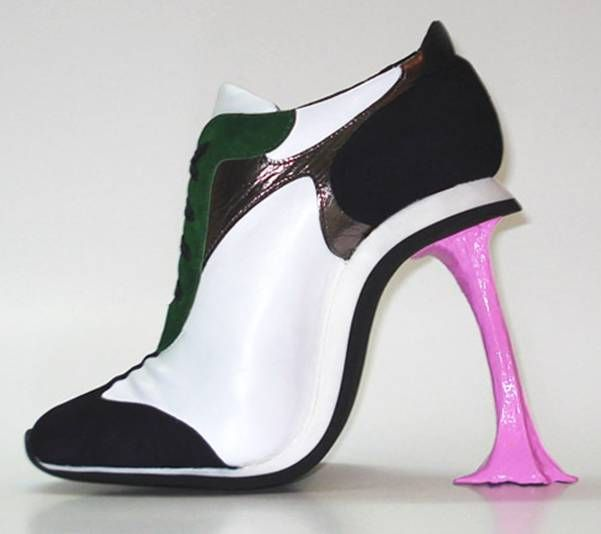 The heel is made to look like you just stepped in gum...Definitely strictly for mocking!