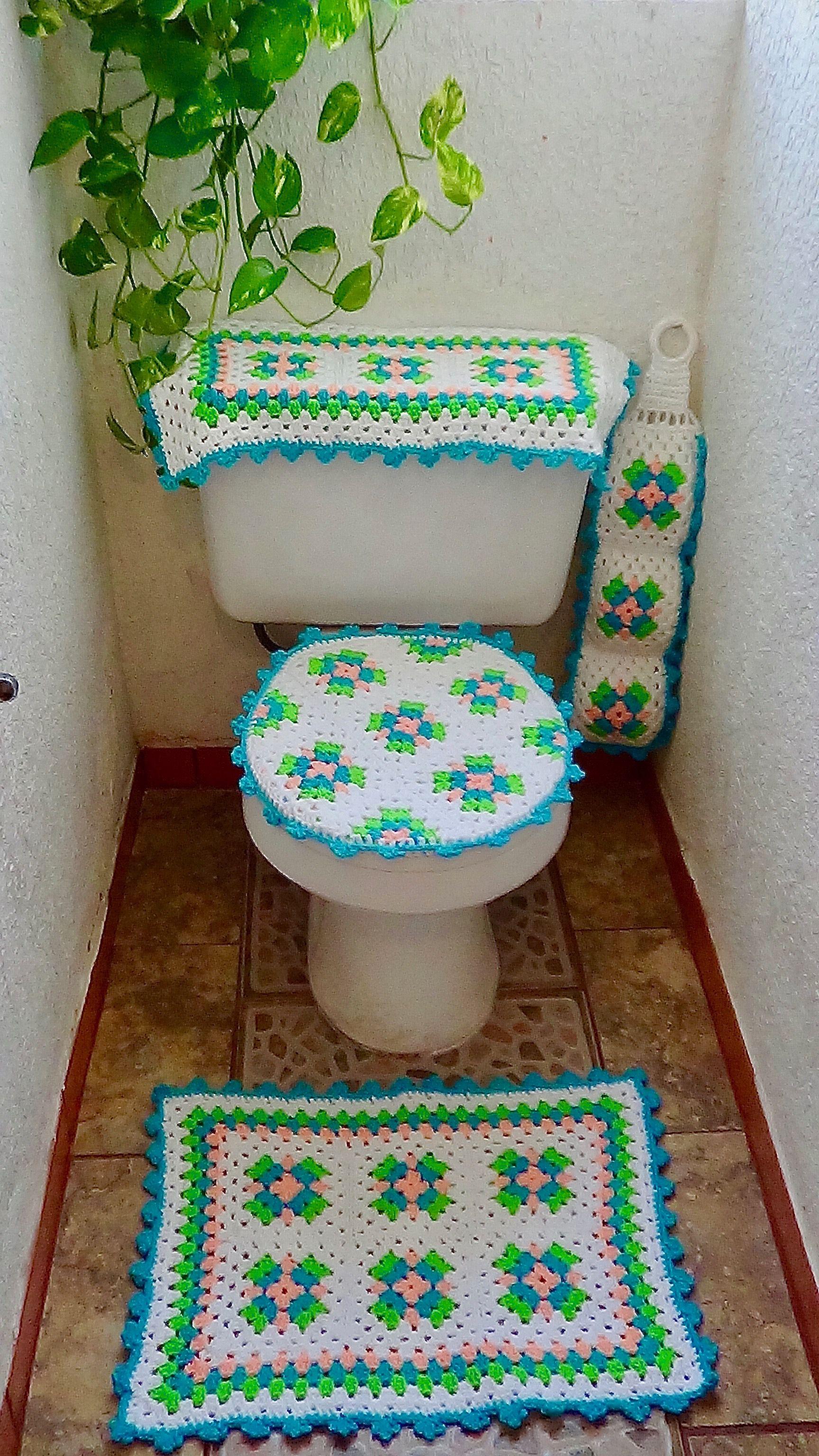 Set De Bano Juegos De Bano Set De Bano Tejidos A Crochet