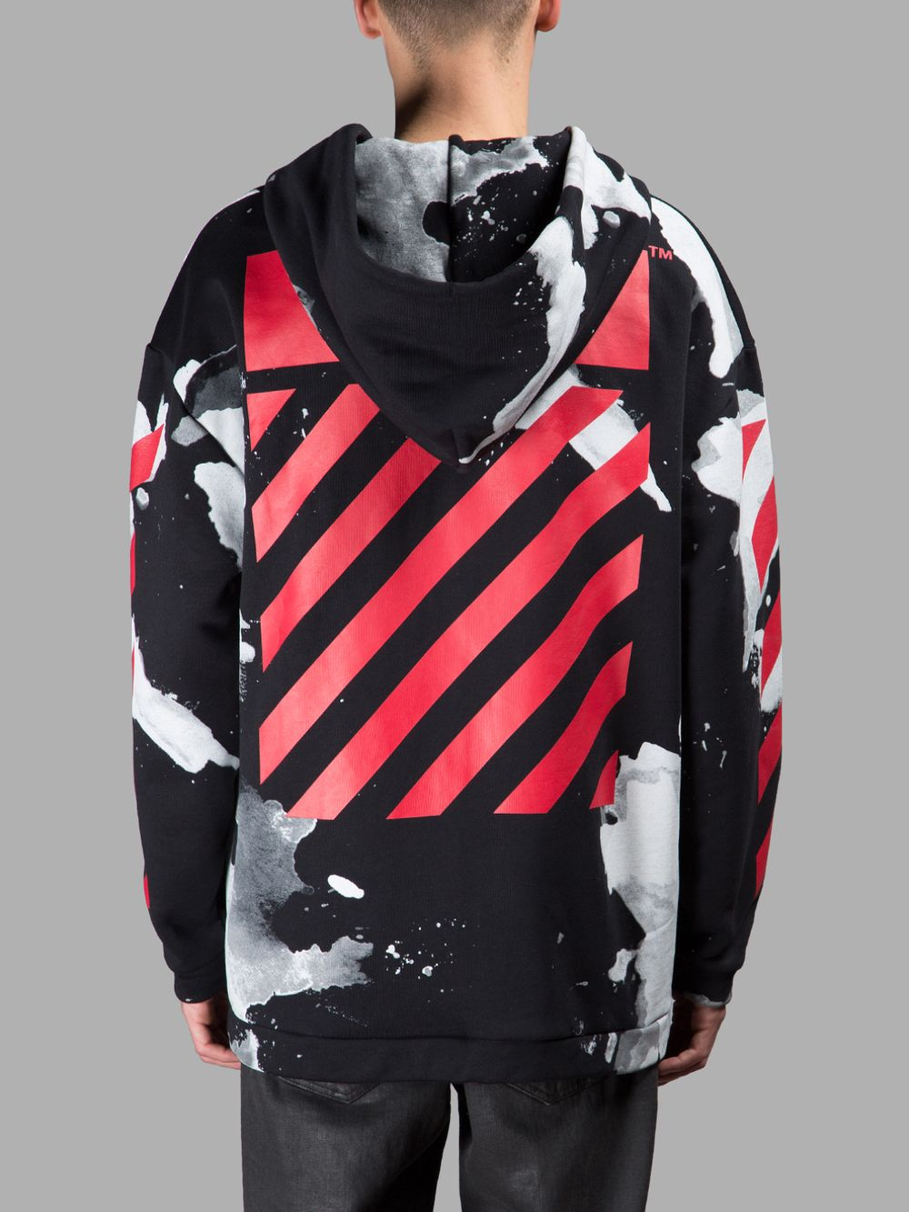 550498f419 OFF-WHITE C O VIRGIL ABLOH MEN S BLACK LIQUID SPOTS HOODIE ...