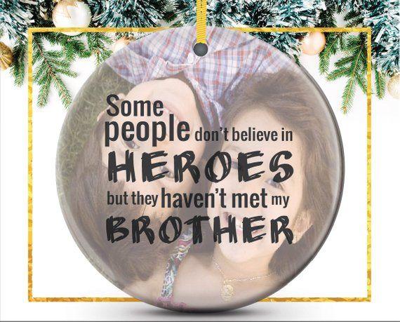 brother custom photo ornament unique christmas gift for ornamentos de la foto adornos navideos
