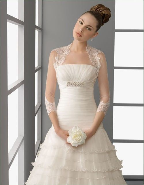 Chaquetas y chales de boda on AliExpress.com from $26.0 | novias 4 ...