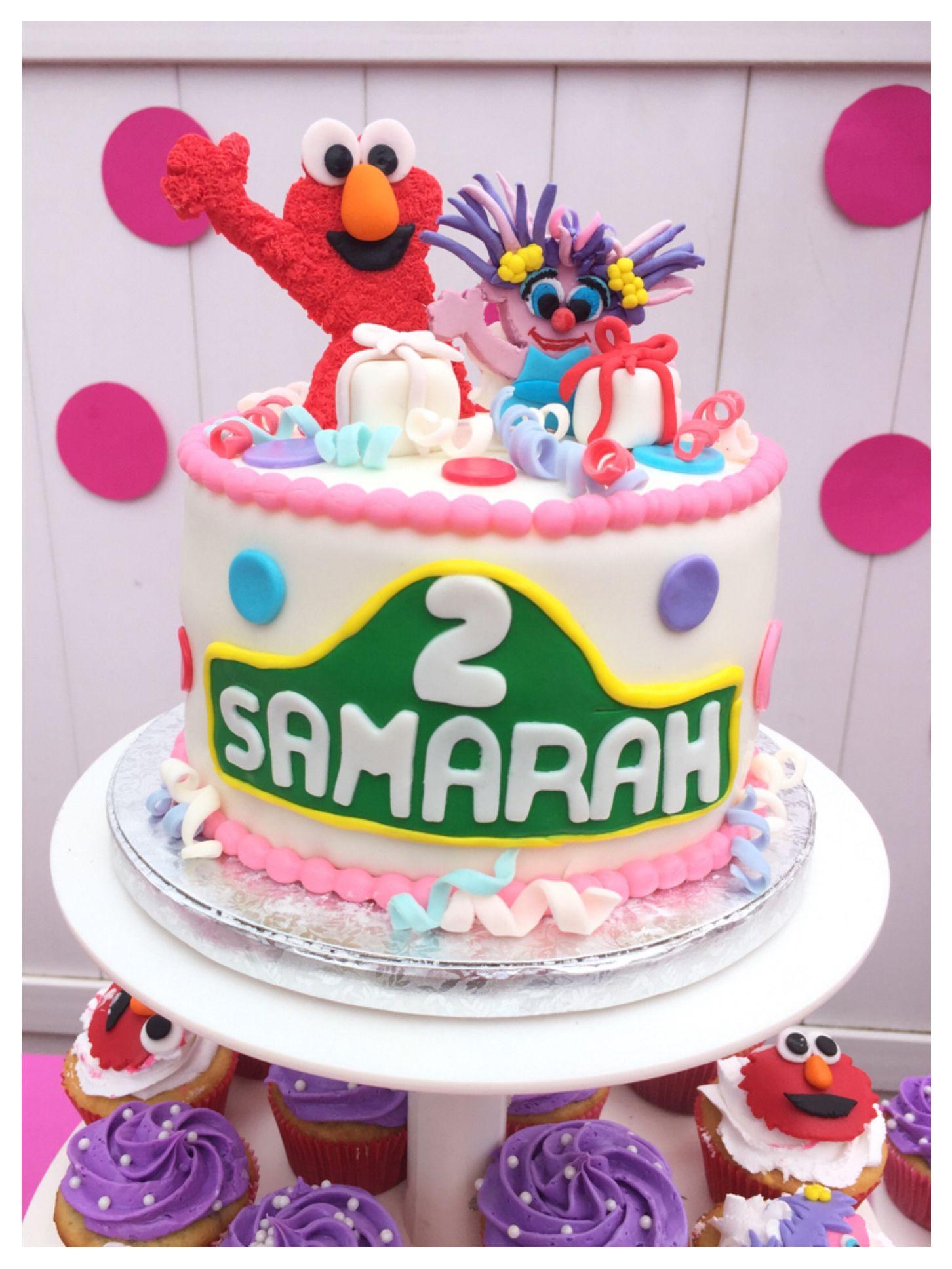 Excellent Elmo And Abby Cadabby Cake Samarahs 2Nd Birthday Elmo Funny Birthday Cards Online Necthendildamsfinfo