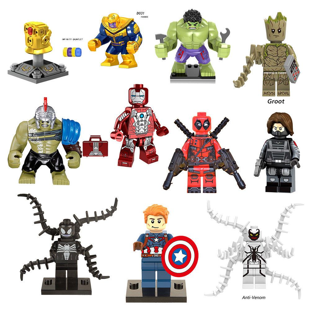Super Hero Minifigure Thor Superheroes Mini Figures MiniFigs