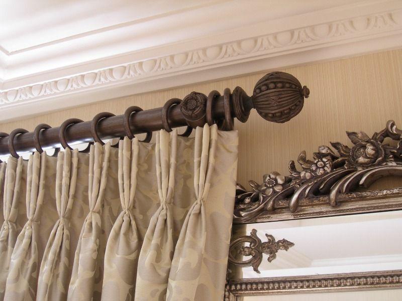 Stylish And Pretty Curtain Rail Cozy Curtain Poles Dark Brown