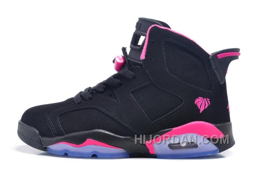 more photos 5cf81 15f66 Air Jordan 6 Retro GS Black Pink For Sale In Women Size ...