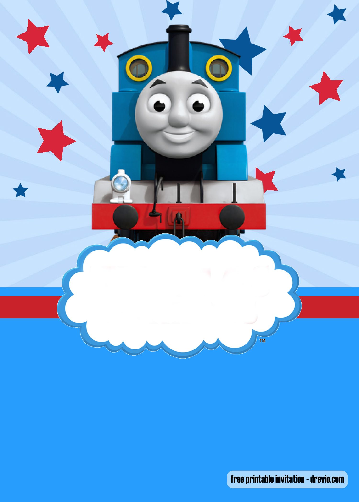 FREE Thomas The Train Invitation Templates – FREE Printable
