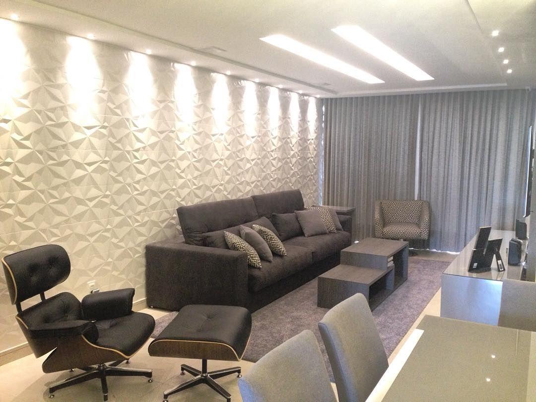 Depois de muita obra mais um apartamento pronto agora for Revestimento 3d sala de estar