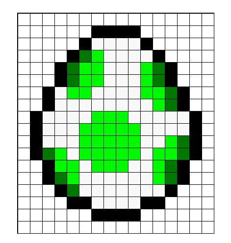 mario question box perler perler bead pattern bead sprites super mario yoshi egg perler bead sprite pattern pattern only
