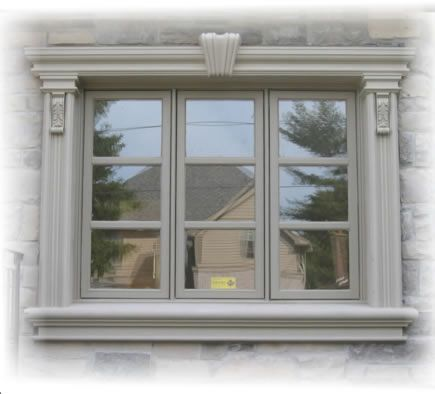 Stucco stucco trim stucco cornice and sill at prime for Window design colour