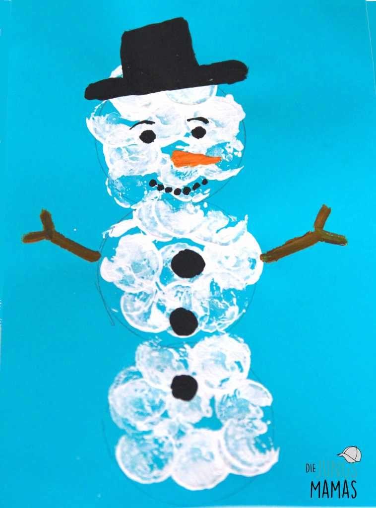 DIY – 5 einfache Schneemänner malen und basteln #laternekleinkind