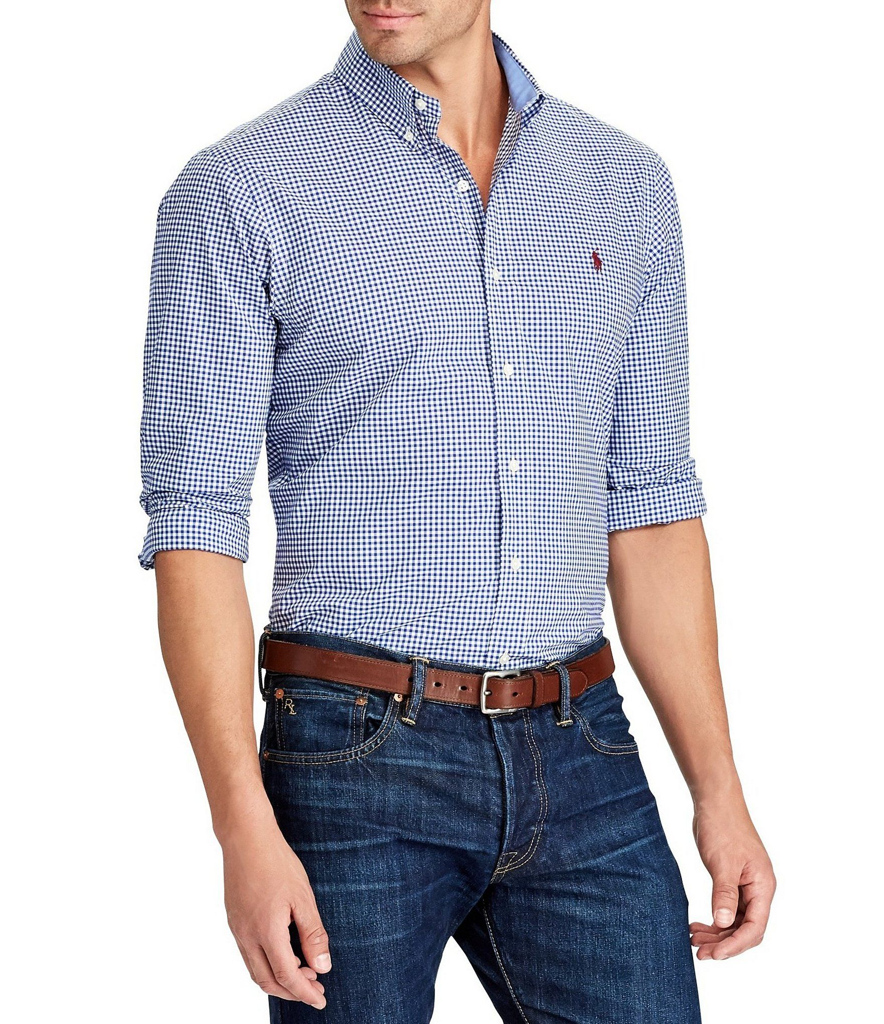 Shop for Polo Ralph Lauren BIg & Tall Gingham Long-Sleeve ...