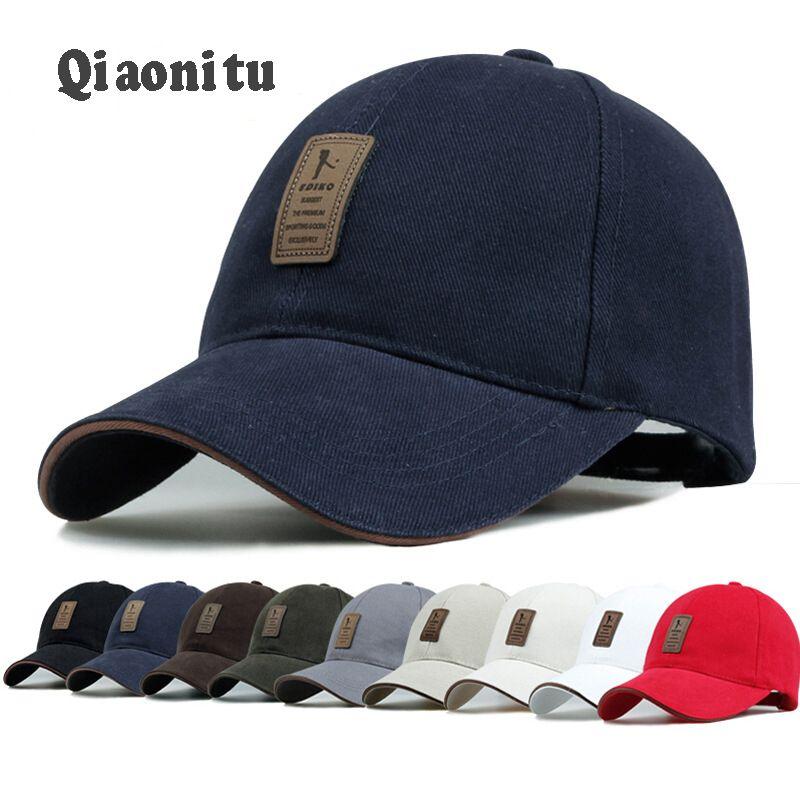 Click To Buy Cotton Unisex Adjustable Baseball Cap Summer Bend Brim Hat Affiliate Mens Hats Baseball Hats For Men Casual Cap