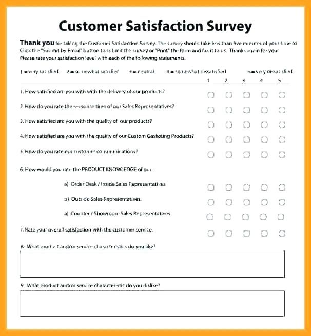 Client Satisfaction Survey Templates Free Customer Feedback Template Blank Forms Office
