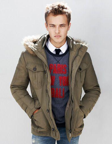 Parka Capucha Pelo Abrigos Hombre Zara Espana Mens Winter Fashion Young Mens Fashion Zara Man