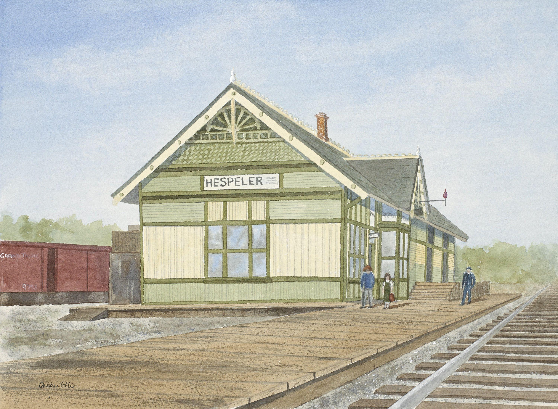Hespeler Train Station 1920 Print Hespeler Old Train Station