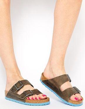 Sandales plates en daimBirkenstock eEyQPzVhC