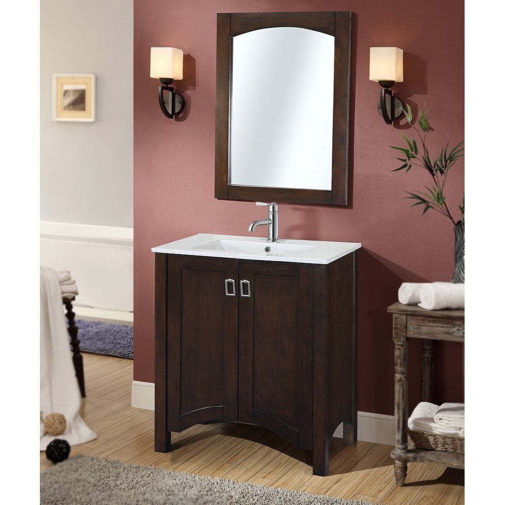 Contemporary 30ch Sgle Sk Bathroom Vanity with Matchg