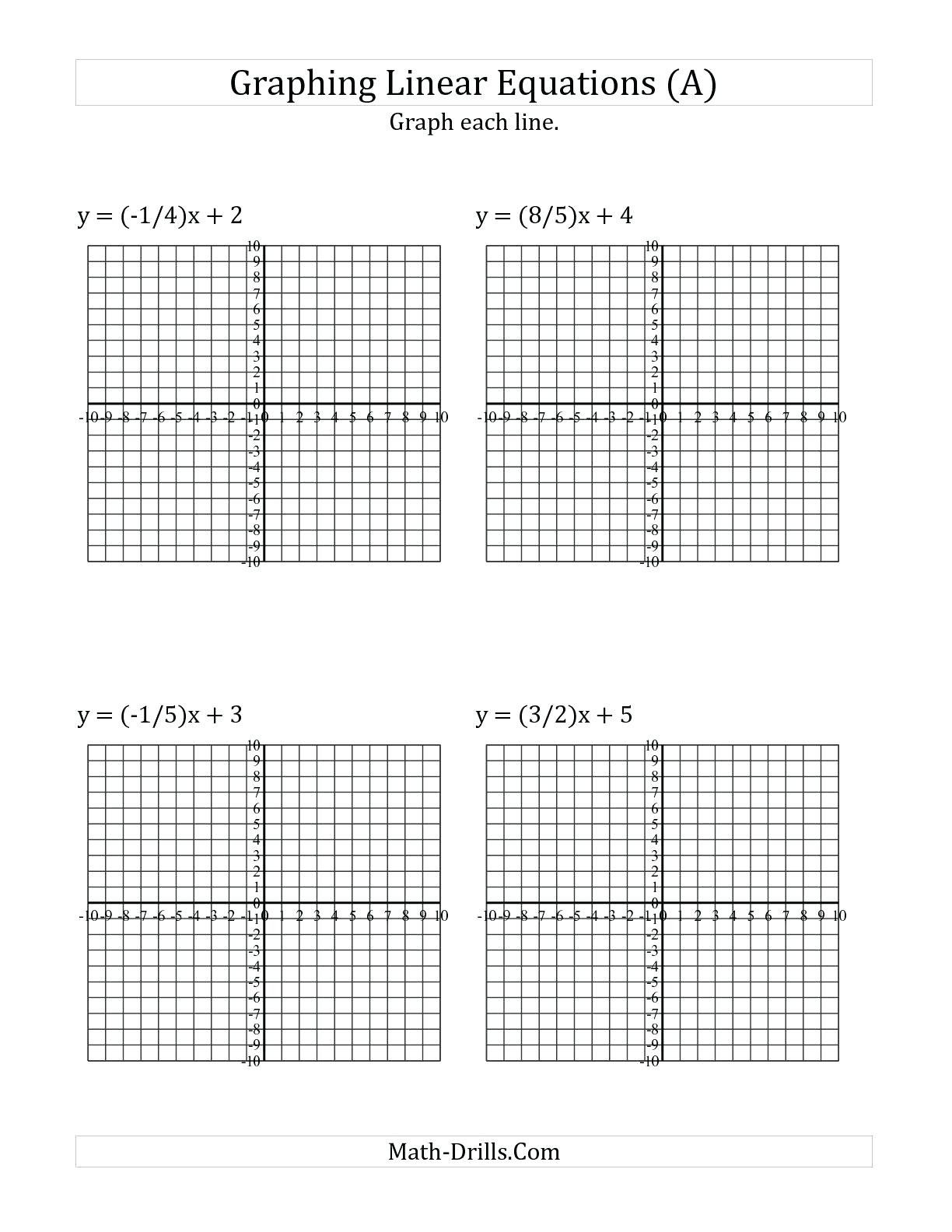 5 Free Math Worksheets First Grade 1 Addition Number Lines Line Math Unique In 2020 Graphing Linear Equations Linear Equations Graphing Linear Inequalities