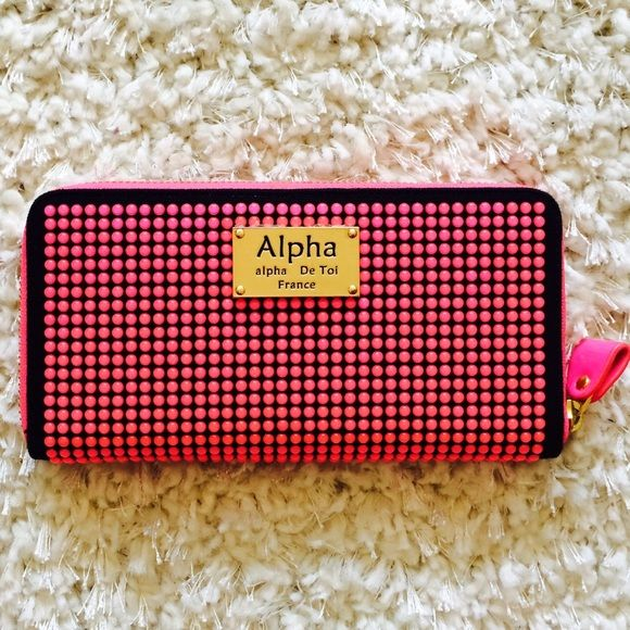 Alpha France Wallet Hot Pink Bubbles Flirty Fun Hot And One Of A