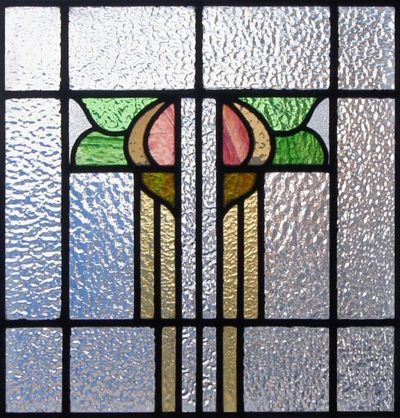 modern tulips stained glass pattern