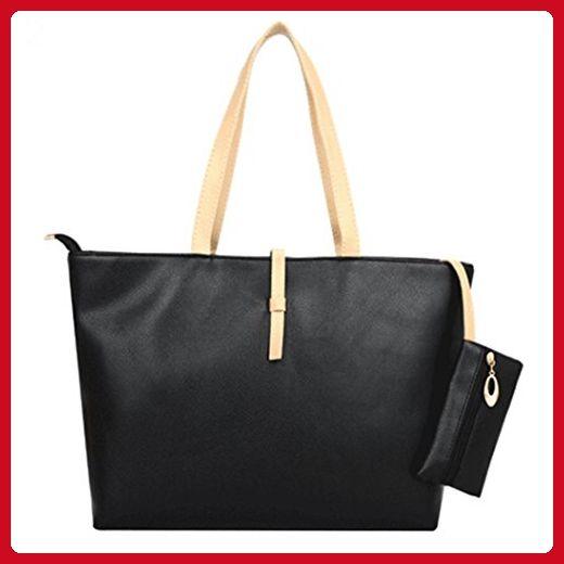 1100e84cce potato001 Women Ladies Designer Faux Leather Style Large Tote Bag Shoulder  Satchel Handbag (Black) - Top handle bags ( Amazon Partner-Link)