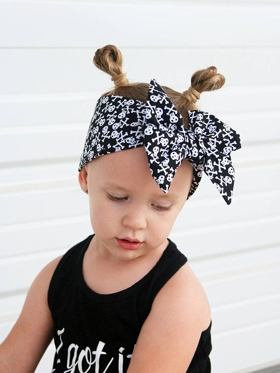 Skull Head Wrap for Girls Baby Skull Headband Bow Punk Baby Girl Clothes Biker Baby Shower Pirate Headband for Infants Black Headwrap  sc 1 st  Pinterest & Skull Head Wrap for Girls Baby Skull Headband Bow Punk Baby Girl ...