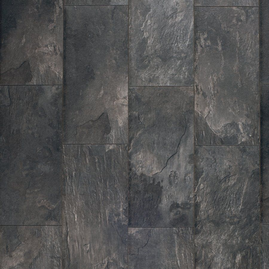 Pergo Max 11 1 In W X 1 98 Ft L Midnight Slate Stone