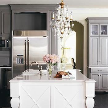 dark gray kitchen cabinets with white island kitchen grey rh pinterest com