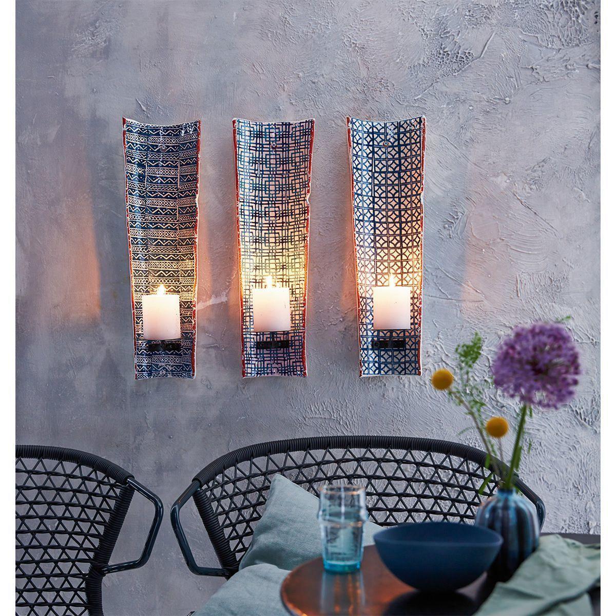 wandkerzenhalter handgearbeitet aus einem dachziegel. Black Bedroom Furniture Sets. Home Design Ideas