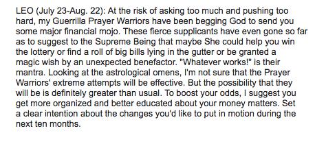 leo rob brezsny horoscope