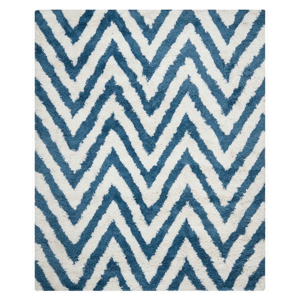 Safavieh Nori Chevron Shag Rug - Ivory/Blue (10'x14')