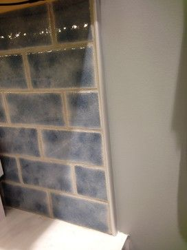 Kitchen Backsplash Edge emser tile with schluter edge to finish it off nicely. how to end