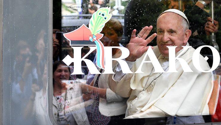 ŚDM 2016: tramwajem papież Franciszek przyjechał na krakowskie Błonia - Wiadomości