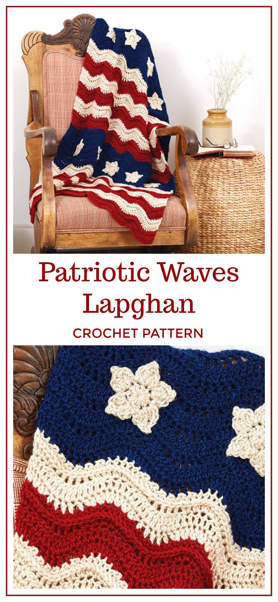 Patriotic Waves Lapghan Crochet Pattern Download Crochet Old Glory
