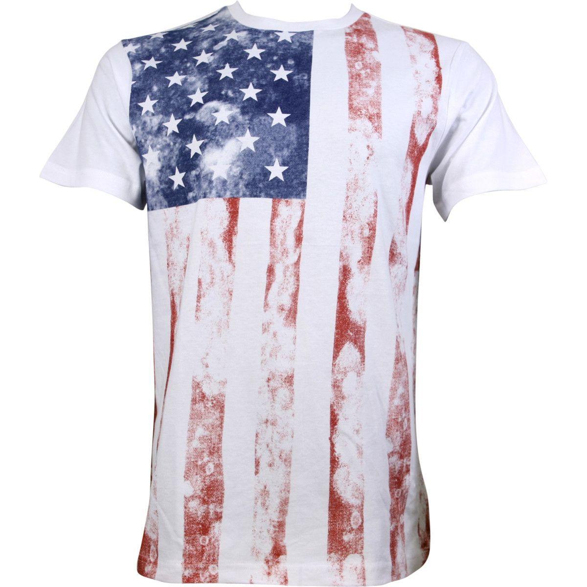 SGR Apparel - Men's Americana T-Shirts - White