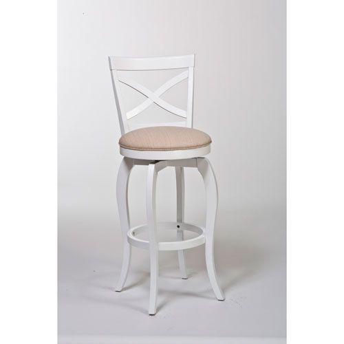 Ellendale White Swivel Counter Stool Hillsdale Furniture Counter Height (18  Tou2026