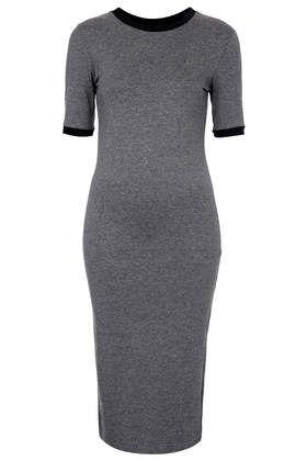 Rub Trim Midi Dress | perfect spring dress to pair with a denim jacket | top shop | body con