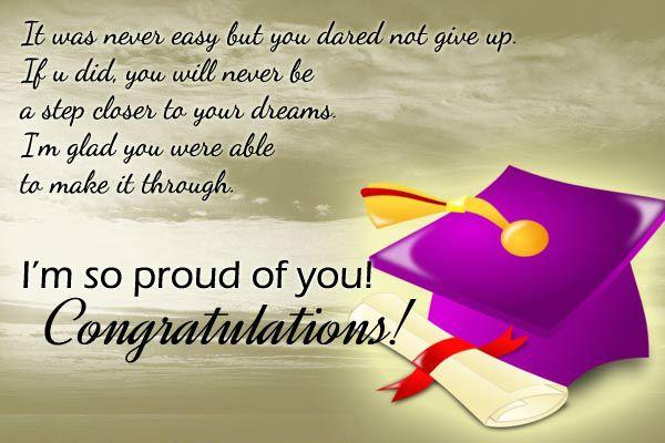 We Are Proud Of You Graduation Message Quotes Graduation Congratulations Quotes Inspirational Graduation Quotes