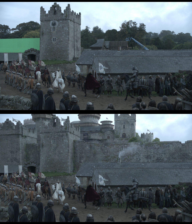 Winterfell Tv set design, Greenscreen, Matte painting