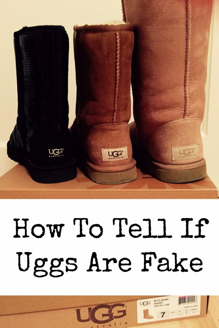 Click here to tell if your Ugg boots are fake or real.