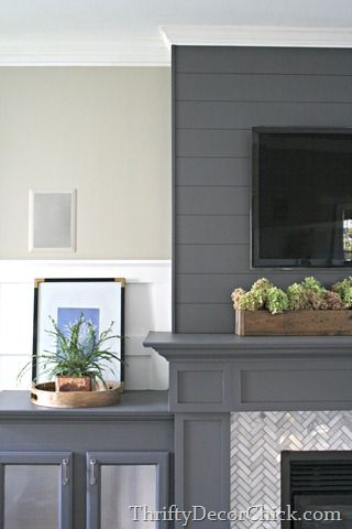 Living Room Diy Fireplace Surround Sherwin Williams