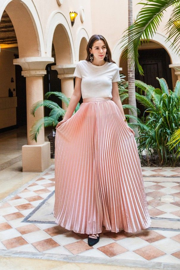 best website 12668 c0725 gonna rosa plissettata | IRENE COLZI BY IRENE'S CLOSET nel ...